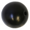 Wooden Bead Round 25mm Black Polished